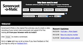 オンラインでスクリーンキャストを録画できる「Screencast-O-Matic」YouTubeに対応