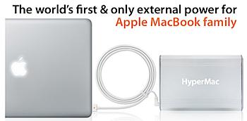 「HyperMac」MacBook/Pro/Air用の外部電源