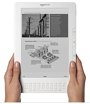 Amazon「Kindle DX」大画面の電子ブックリーダー