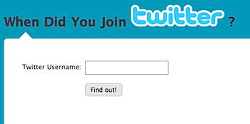 いつTwitterを始めたか分かる「When Did You Join Twitter?」