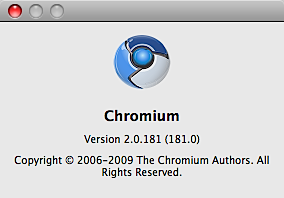 Google Chrome for Mac「Chromium」を試す