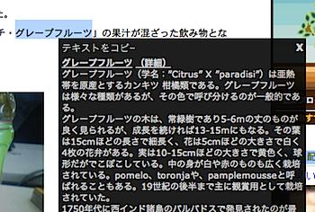 ドラッグでWikipediaを検索するブログパーツ「ドラッカー」