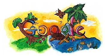 子供が描くGoogleロゴ「Doodle 4 Google」(2009)