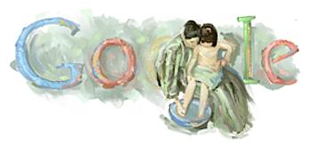 Googleロゴ「メアリー・カサット」に