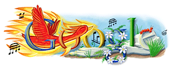 Googleロゴ「ストラヴィンスキー」に