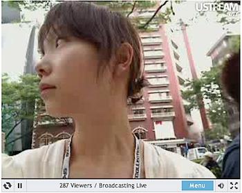 そらの@決断ポトフ、表参道から「iPhone 3GS」行列を中継!