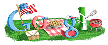 Googleロゴ「4th of July(Independence Day)」に