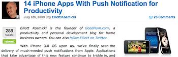 プッシュ機能を搭載した「iPhone」アプリ14種類