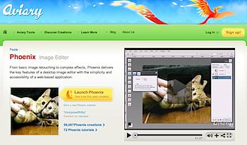 オンラインで画像編集できる「Aviary Image Editor Phoenix」