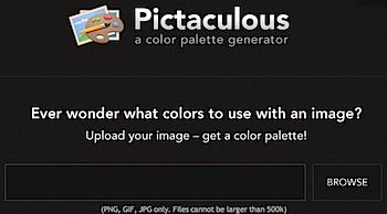 画像からカラーパレットを抽出する「Pictaculous」