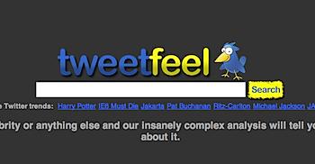 リアルタイムにTwitterユーザの感情を検索できる「TweetFeel」