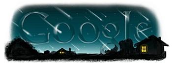 Googleロゴ「ペルセウス座流星群」に