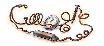 Googleロゴ「ハンス・クリスティアン・エルステッド」に