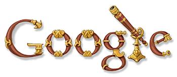 Googleロゴ「ガリレオ 望遠鏡」に