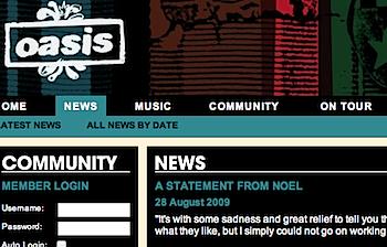 「Oasis」ノエル・ギャラガー脱退