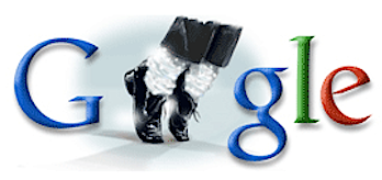 Googleロゴ「マイケル ジャクソン」に