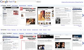 「Google Fast Flip」ニュースサイトの記事を高速閲覧可能に