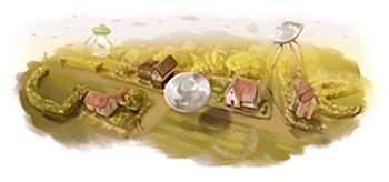 Googleロゴ「H.G. ウェルズ」に