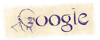 Googleロゴ「ガンジー」に