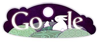 Googleロゴ「月見」に