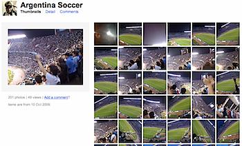 iPhoneで撮影したサッカー、アルゼンチン v.s. ペルー戦の写真集