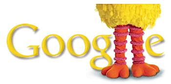 Googleロゴ「ビッグバード(セサミストリート)」に