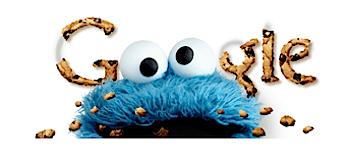Googleロゴ「クッキーモンスター(セサミストリート)」に
