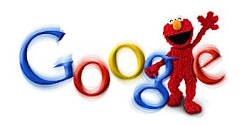 Googleロゴ「エルモ(セサミストリート)」に