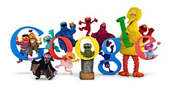 Googleロゴ「セサミストリート」に
