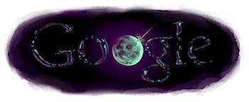 Googleロゴ「月 水 存在 NASA」に