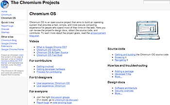 「Chromium OS」Google Chrome OSのオープンソース