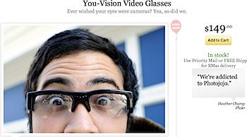 動画撮影できるメガネ「You-Vision」