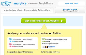 ツイッターのフォロワーを分析してくれる「Ad.ly Analytics」