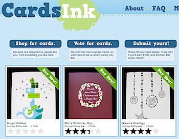 お洒落でかわいいデザインのカードを購入できる「CardsInk」