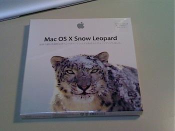 「Mac OS X 10.6 Snow Leopard」届いた!