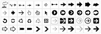 Illustrator/Freehand/PDFで入手できる矢印アイコン