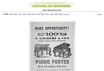 古い広告を探せる「Vintage Ad Browser」