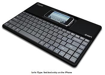 iPhone用キーボード「iType」「iDiscovery」