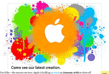 Appleが1月27日にイベントを開催→Tablet、iPhone OS 4を発表か?