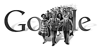 Googleロゴ「Martin Luther King, Jr」に