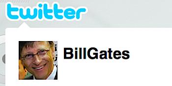 ビル・ゲイツ、ツイッターを始める