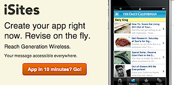 「iSites」わずか10分でRSSフィードをiPhoneアプリ化