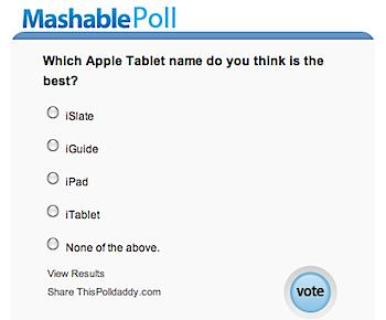 Appleタブレットの名前は何が良い?