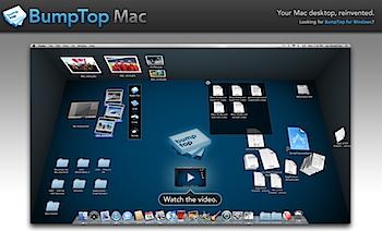 Macのデスクトップを3D化する「BumpTop Mac」