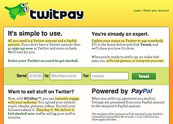 ツイッターアカウントで送金できる「Twitpay」