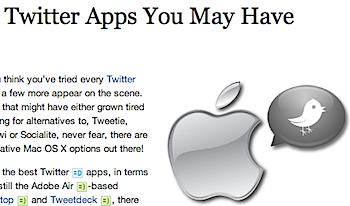 見逃しているかもしれないMac用ツイッターアプリ4本