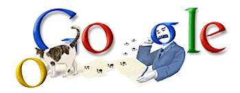 Googleロゴ「夏目漱石」に