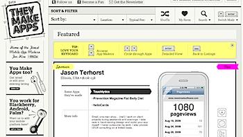 iPhoneアプリ開発者のまとめサイト「TheyMakeApps.com」