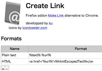 ページタイトルやURLをコピーするGoogle Chrome機能拡張「Create Link」
