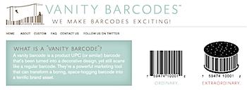 アートみたいだけど実際に使えるかわいいバーコード「Vanity Barcodes」